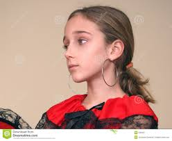 earrings girl portrait of a girl with earrings and dress with black