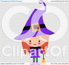 free halloween clip art transparent background cartoon of a cute in a purple witch halloween costume