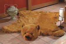 fake bear skin rug ebay