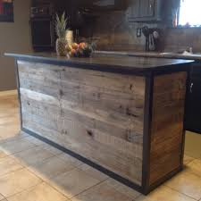 barnwood kitchen island diy kitchen island made from pallet wood house ideas
