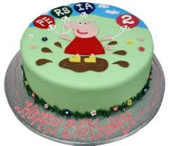 peppa pig cake minnie s bow on a number cake