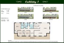 Classic Colonial Floor Plans by Bargo Colonial Cottages Builder Southern Highlands Nsw