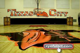 custom art murals in houston dallas custom school murals gym indoor gym floor and wall package commercial outdoor mural detailed airbrushed