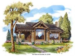 Cabin Style Home Plans Log Cabin House Plans This Is An Painting Of These And Design