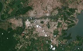 Parana River Map Foz Do Iguaçu
