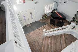 Hardwood Floor Painting Ideas Salmon Or Coral Paint Ideas Staircase Traditional With Wood Trim
