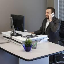 Stand Desks by Ergotron Workfit T Standing Desk Workstation Ergonomic Standing
