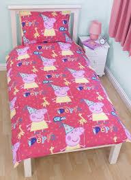 Peppa Pig Duvet Cover 100 Cotton Peppa Pig Funfair Single Panel Duvet Quilt Cover Kids Reversible