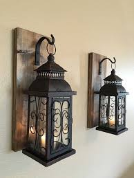Lantern Wall Sconce Wall Sconce Wooden Sconces Set Of Two Sconces Bathroom Decor
