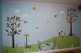 nursery mural ideas nursery mural wall cartoon themed painting nursery mural ideas childrens church decor childrens wall mural classic fauxs trends