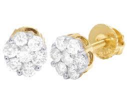 silver diamond earrings genuine diamond 925 silver gold hoops and stud earrings