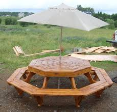 incredible octagon picnic tables plans outdoor patio tables ideas