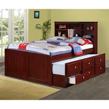Trundle Bed Woodcrest Heartland Captains Bed With Trundle Hayneedle