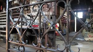 santa barbara forge iron wrought iron bedframe youtube