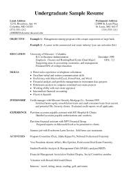 undergraduate curriculum vitae exle exles of curriculum vitae tips in writing and format best