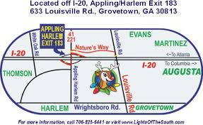 directions and map to lights of the south 633 louisville rd