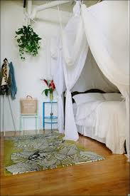 bedroom magnificent how to make a canopy bed with curtain rods