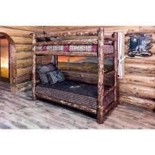 Rustic Bunk Bed Rustic Bunk Loft Beds Bedroom Furniture The Home Depot