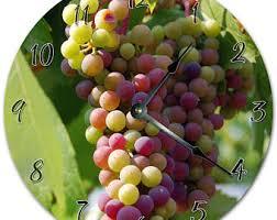 Grapes Home Decor Grapes Wall Clock Etsy
