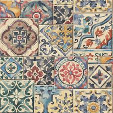 Tile Wallpaper Marrakesh Tile Wallpaper Lelands Wallpaper