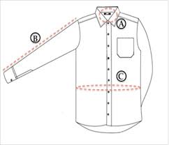 size chart to shop shirts for men online regualr and slim fit