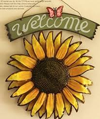 Sunflower Home Decor Amazon Com 12x15 Vintage Hanging Butterfly Sunflower Welcome Sign