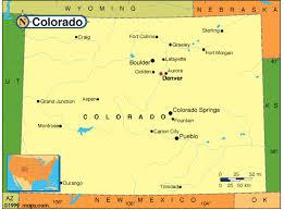 colorado population map colorado map