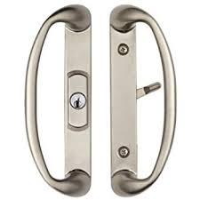 Patio Door Knobs Veranda Sliding Glass Door Handle Set With Mortise Lock White