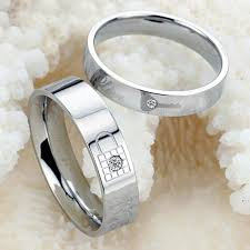 the one ring wedding band lock and key titanium steel promise ring wedding bands
