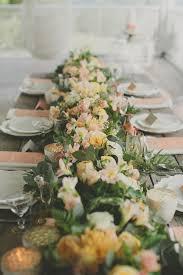 23 wedding trend unique floral wedding garland table runner ideas