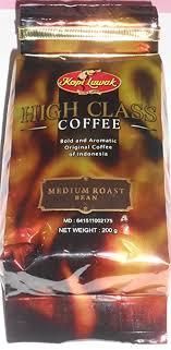 Luwak Coffee kopi luwak high class whole bean coffee bag 200 grams