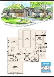 House With Central Courtyard House Of The Week Single Level Home Features Central Courtyard