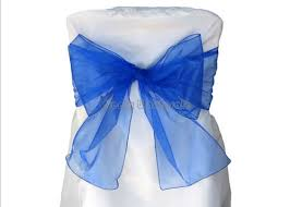 bows for chairs organza chair bows sashes royal blue 12 pieces