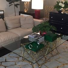 gold leaf coffee table molecule gold leaf coffee table shop now