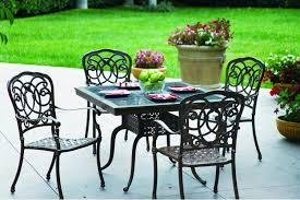 Cast Aluminum Patio Table And Chairs by Furniture Astonishing Outdoor Dining Room Decoration With Light