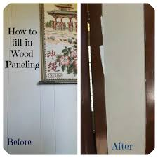 wood paneling makeover confessions of an add housewife how to fill in wood paneling
