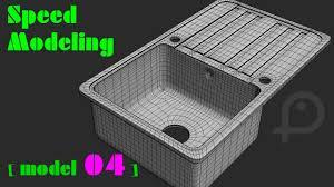 kitchen sink model speed modeling kitchen sink in 3ds max model 04 youtube