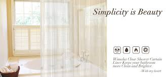 Shower Curtain Clear Wimaha Clear Shower Curtain Liner 72x72 Waterproof