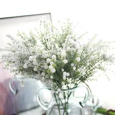 baby s breath flower 10pcs frosted bush artificial baby s breath silk flower home