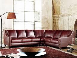 Top Grain Leather Sectional Sofas Divani Casa 3024 Brown Top Grain Italian Leather Sectional Sofa