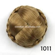 hair bun clip braided chignon clip in hair bun pretty synthetic hair bun