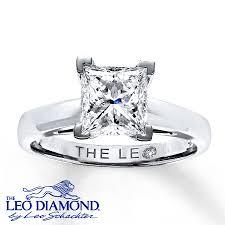 artisan wedding rings leo artisan ring 2 carat princess cut 14k white gold