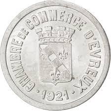chambre du commerce evreux evreux chambre de commerce 25 centimes 1921 elie 10 3 9316749322