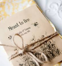 wedding seed favors 10 meant to bee seed packet favours by wedding in a teacup