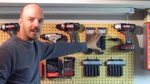 how to hang tools in shed organizing tools on pegboard youtube