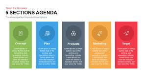 5 sections agenda graphic design pinterest keynote and template