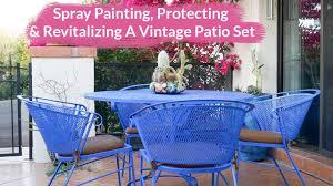 Retro Patio Furniture Sets Patio Furniture Metal Patio Setc2a0 Spray Painting Protecting