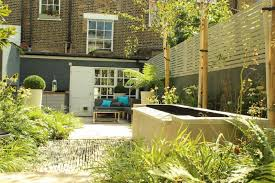 Townhouse Backyard Ideas Backyard Landscaping Ideas Dense Greenery Complemented By A Rock