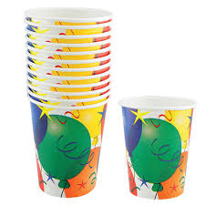 party cups bulk birthday balloon paper party cups 9 oz 12 ct packs at