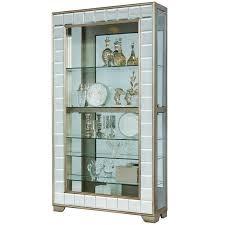 Images Of Curio Cabinets Amazon Com Pulaski Platinum Mirrored Frame Side Entry Curio